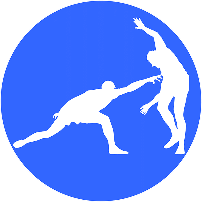 Players Playing Kabaddi in blue background